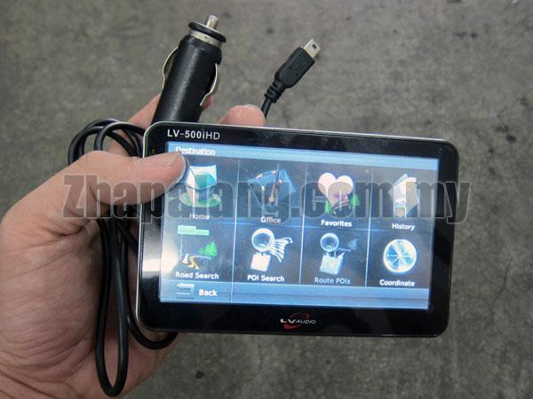 [Used]LV-Audio LV-500iHD Touch Screen Portable Car GPS Navigator / Navigation(Powermap Z9)