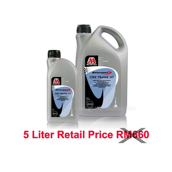 Millers Transmission Oils CRX 75W140 NT 1L