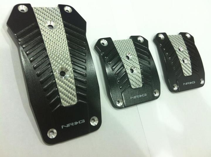 NRG Aluminium Pedals with Real Carbon Black(Auto)