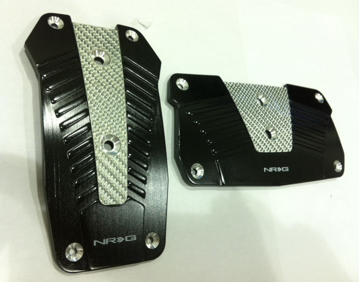 NRG Aluminium Pedals with Real Carbon Black(Manual)