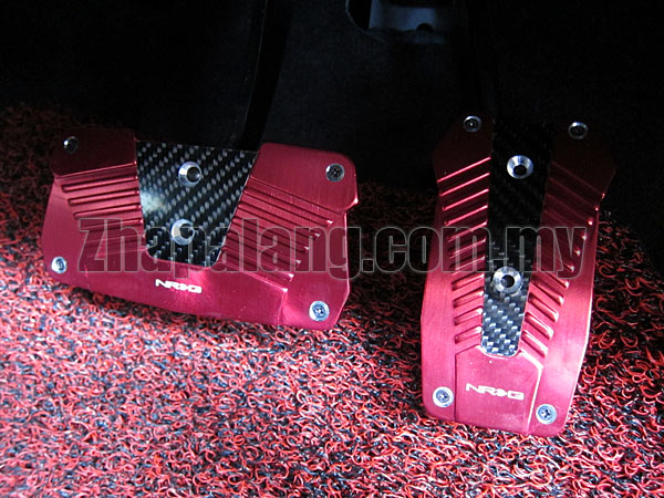 NRG Aluminium Pedals with Real Carbon Red(Auto)