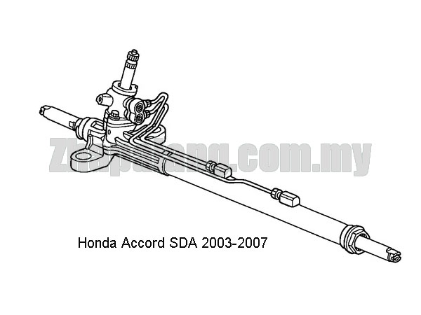 Original Honda Accord SDA'03-'07 Steering Rack Assembly(RHD)