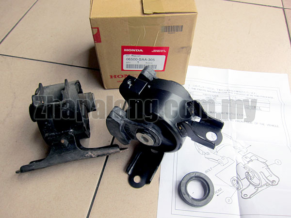 Original Honda Jazz/Fit/City 03-06 Engine Mounting Complete Set - Image 3