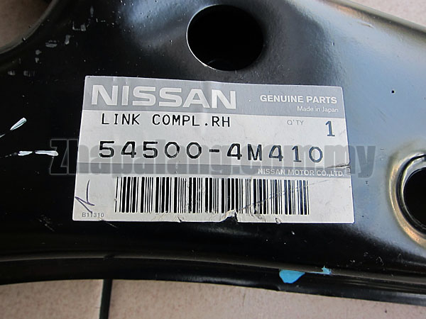 Original Nissan Sentra N16 Front Lower Control Arm 54500-4M410 RH - Image 3