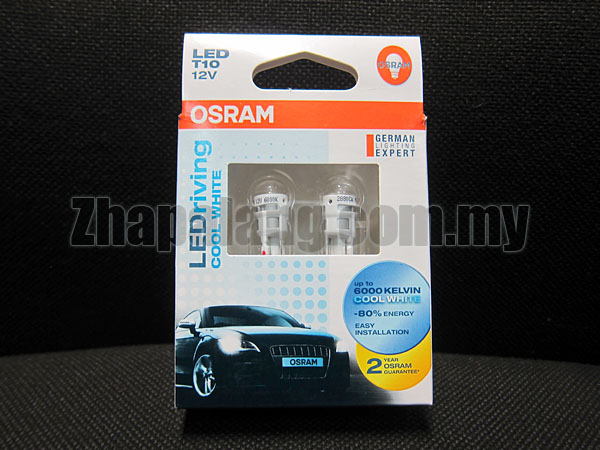 Original OSRAM LEDriving 4090 T10 12V 6000K(Cool White)