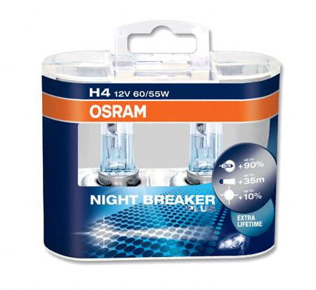 OSRAM NIGHT BREAKER PLUS +90% +35m H4