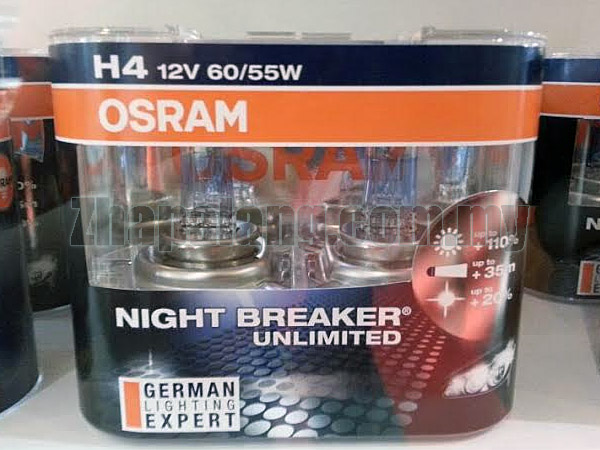 osram night breaker unlimited 110 brightness 20 whiter 60 55w h11 zhapalang e autoparts. Black Bedroom Furniture Sets. Home Design Ideas