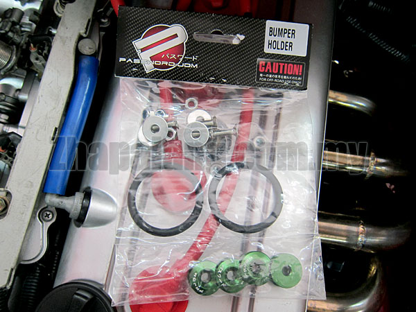 Password:JDM Quick Release Fasteners kit are ideal for front bumpers, rear bumpers, and trunk/car hatch lids(Green)