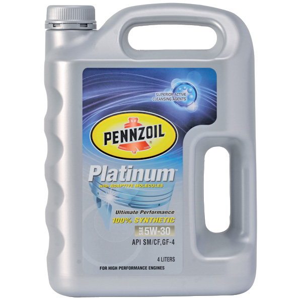 Pennzoil Platinum 100% Synthetic SAE 5W-30
