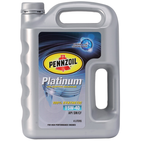 Pennzoil Platinum 100% Synthetic SAE 5W-40