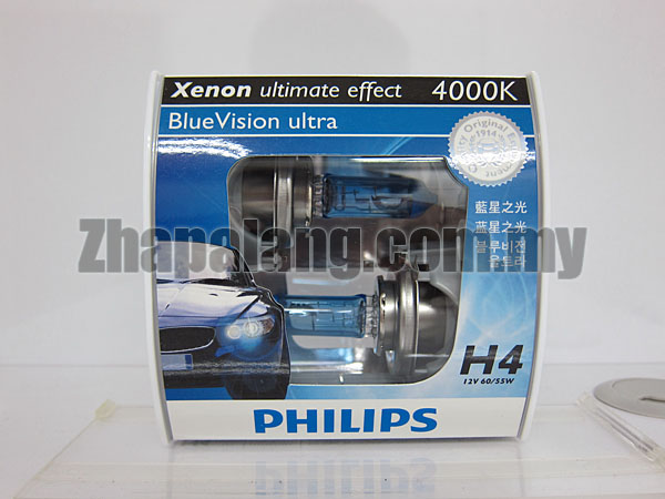 Philips BlueVision Ultra 4000K H4