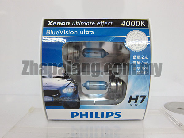 Philips BlueVision Ultra 4000K H7