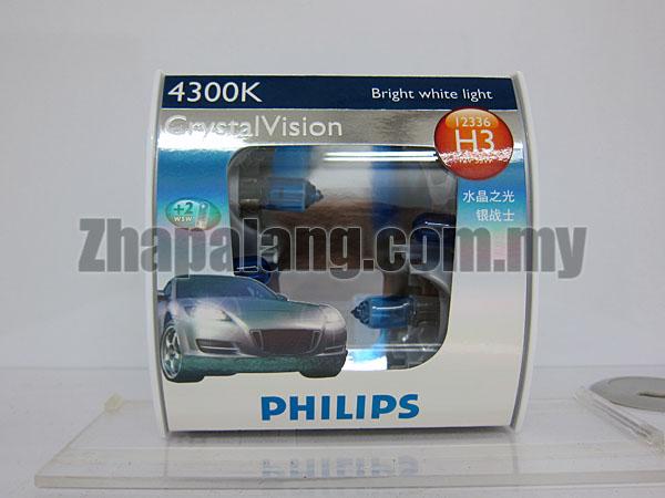 Philips CrystalVision 43000K H3(FOC W5W)