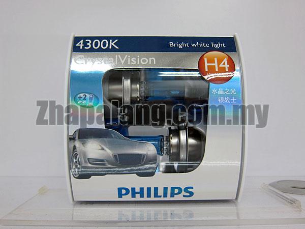 Philips CrystalVision 43000K H4(FOC W5W)