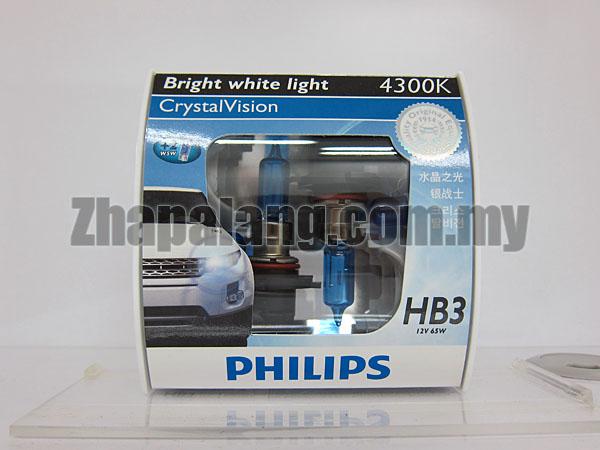 Philips CrystalVision 43000K HB3 9005(FOC W5W)