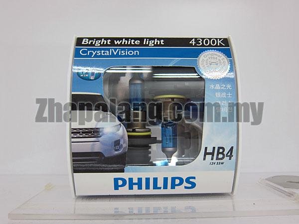 Philips CrystalVision 43000K HB4 9006(FOC W5W)