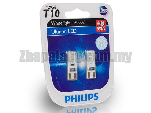 philips good range series t10 ultinon 6000k led zhapalang. Black Bedroom Furniture Sets. Home Design Ideas