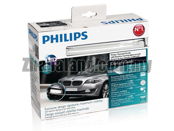 Philips LED Daytime Running Light (DRL) 8 LED Daylight Light Guide - White / 12V - Image 1