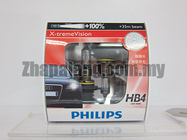 Philips X-tremeVision +100% HB4 9006