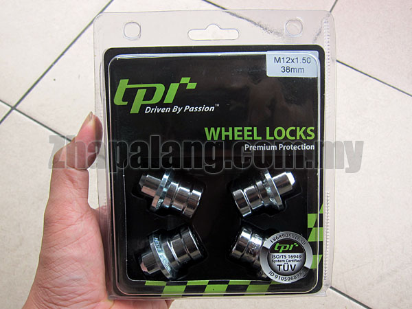 TPI Premium Protection Wheel Locking Nuts 12 x 1.50 38mm for Toyota Stock Rims