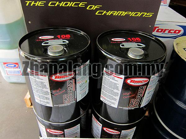 TORCO 108 Octane Unleaded Racing Gasoline Pail