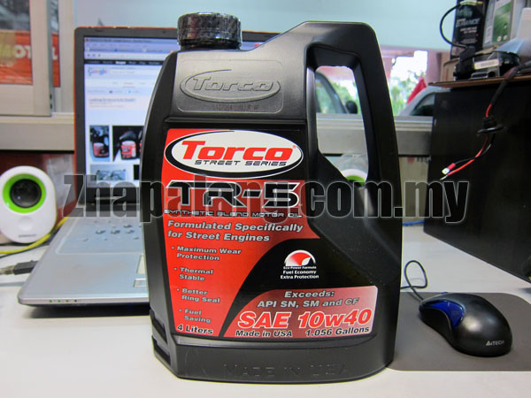 Torco TR-5 10w40 Semi Synthetic Oil 4L