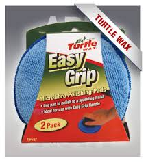 Turtle Wax TW-157 Easy Grip Microfiber Polishing Pads 2pk