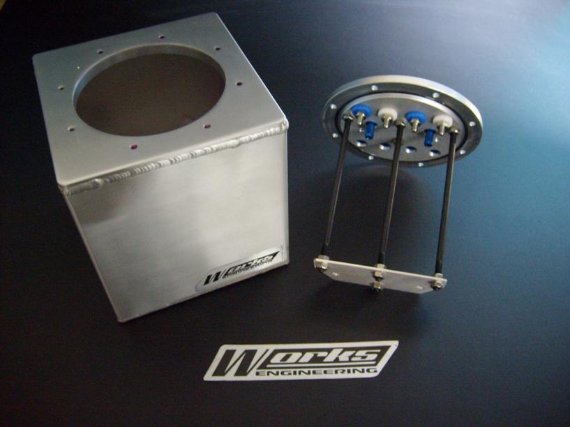 Works Engineering Aluminium Fuel Surge Tank -2 liter
