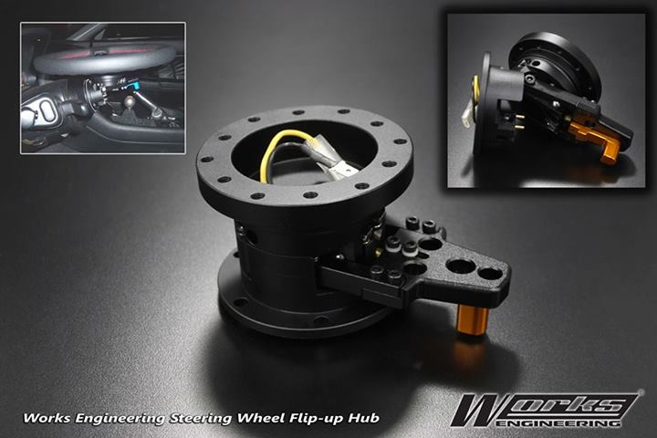 Works Engineering Steering Wheel Flip-Up Hub