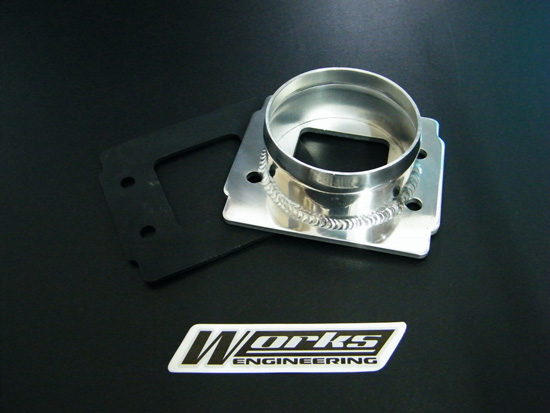 Works Filter Adapter Aluminium Straight (for modification use)