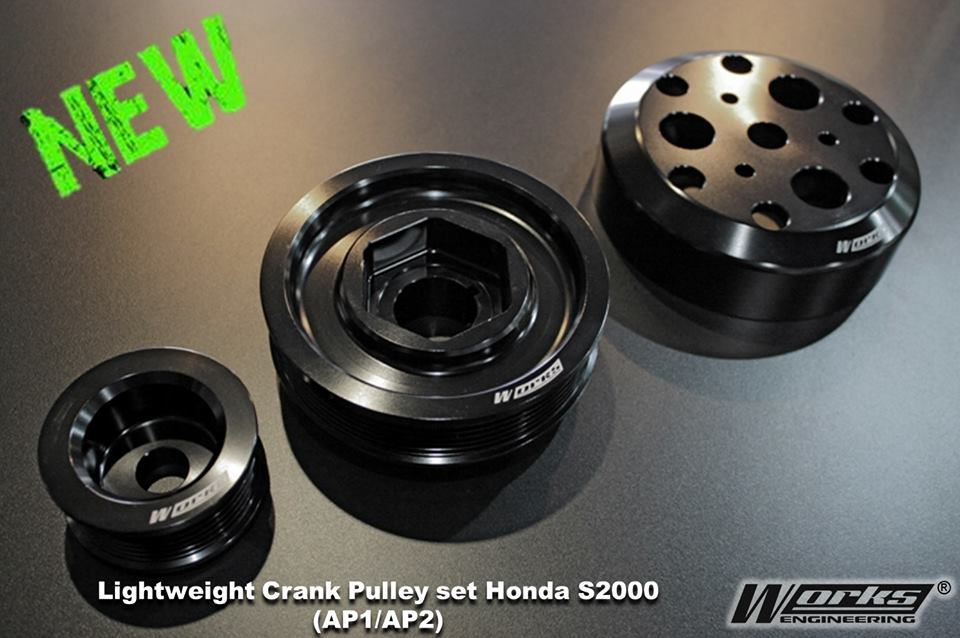Works Honda S2000 AP1/AP2 Crank Pulley Set