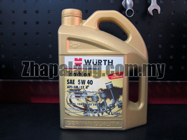 Wurth Triathlon Fully Synthetic 5w40 Mineral 4L