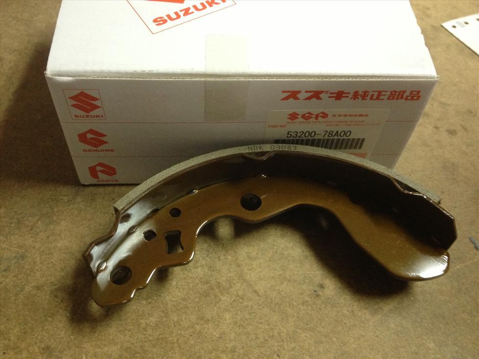 Original Suzuki DA52T DA52 660cc Rear Brake Shoe 53200-78A00