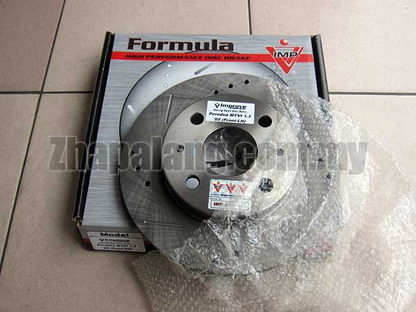 [Only 1]IMP Performance Front Brake Disc(Slotted/Drilled) for Myvi 1.3