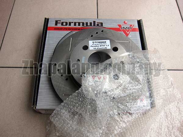 [Only 1]IMP Performance Front Brake Disc(Slotted/Drilled) for Myvi 1.5 '12-