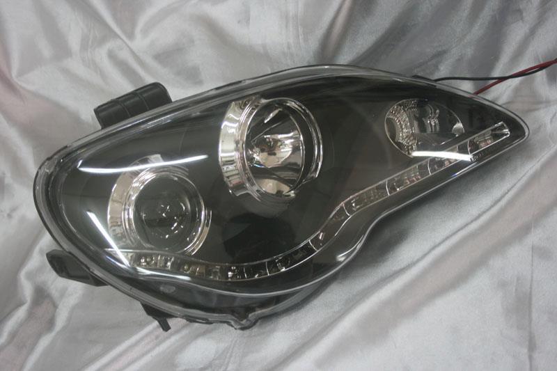 Proton Gen2 / Persona  Black Face Projector Headlamp w DRL